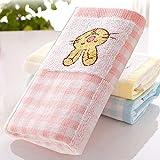 Decdeal 1Pcs Cotton Face Towel Ultra Soft Highly Absorbent Supper Towel 50 * 25cm