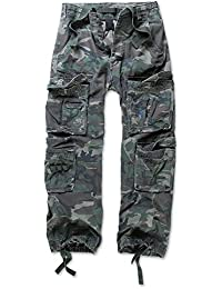Uomo Men Pantaloni Cargo Army Style Cargo Pantaloni Lunghi Da B93