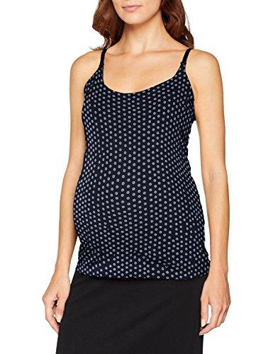 ESPRIT Maternity Damen Spaghetti top Nursing AOP Umstandsschlafanzugoberteil, Mehrfarbig (Night Blue 486), 36 (Herstellergröße: S)