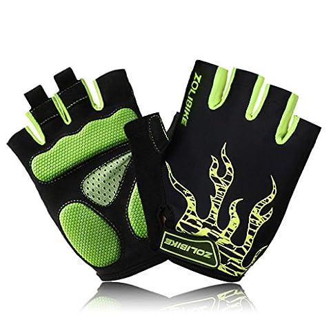 Ultra-Leichtgewicht-Radfahren Handschuhe Mountainbike-Handschuhe Half Finger Road Racing Reithandschuhe mit Licht
