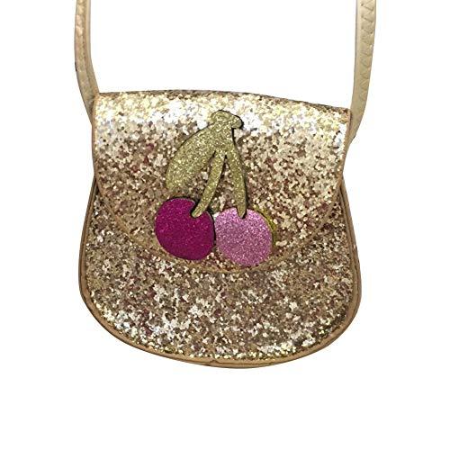 AchidistviQ Schultertasche mit Pailletten, Blume, Bär, Katze, Kaninchen, Dekoration, für Kinder und Mädchen 4# -
