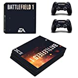Hytech Plus ' Battlefield 1 Special Edition Theme Sticker ' for PS4 PRO Console and 2 Controllers