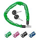 Fahrradschloss »Guardian« Sicherheitsschloss / Radschloss / Stahlgliederketten mit Schlüsseln zur Basisabsicherung - Inkl. 2 Schlüssel /ca. 60 cm lang, Durchmesser ca. 20 cm, Stärke ca. 3-4mm grün