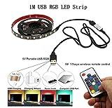 1M 5050 USB RGB LED Strip streifen DC5V wasserdicht lampe zieren -lampe zieren tv / pc beleuchtung (reduzieren sterben am dung der augen und erh henne bildklarheit)