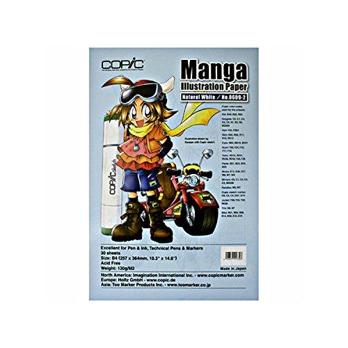Copic Manga Skizzenpapier - 30 Blaetter - B4 - naturweiss