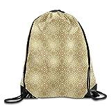 Borsa da palestra con coulisse, zaino sportivo, zaino da viaggio, Golden Vintage 20s Gatsby Party Inspired Geometrical Image With Floral Details Bags Walk Backpack
