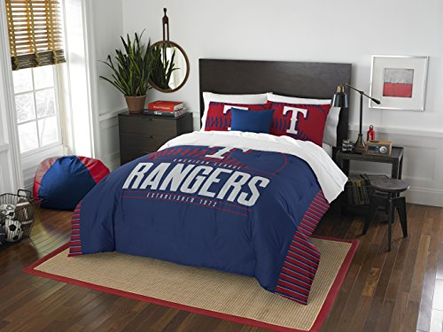Mlb Baseball Bettwäsche (Northwest MLB Texas Rangers Grand Slam Zwei Sham-Set, Rot, Full/Queen Size)