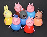 #8: Kiditos Peppa Pig Figure Family & Friends Play Set Toy - 7/pcs