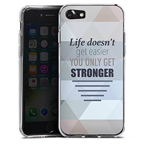 Apple iPhone X Silikon Hülle Case Schutzhülle Motivation Workout Sprüche Silikon Case transparent