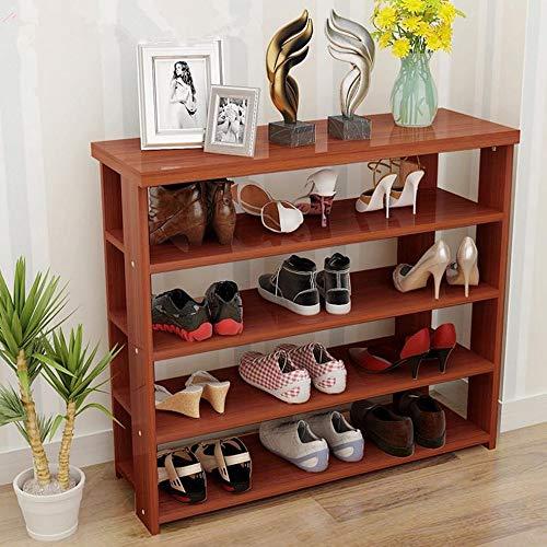Hua hua furniture porta scarpe, supporto in metallo regolabile per 5 sedute, salvaspazio, facile da montare (colore : a, dimensioni : 80 * 29 * 80cm)