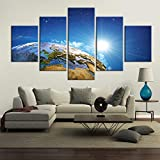 Canvas Painting 5 Piece HD Printed Starry Aurora Home Decoration Wall Picture for Living Wall Art Modern Home Decoration SJDBF