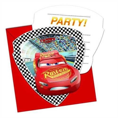 Qualatex de Jouet Disney Cars 3prédécoupé Invitations et enveloppes
