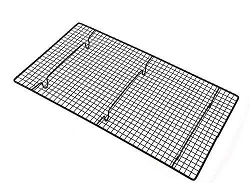 Sohapy Kühl- und Backrost/Ofenfest Bratgerät/Werkzeuge/Pfanne, schwerer Draht, Kohlenstoffstahl & hitzebeständige Farbe, zum Kochen, Grillen, Schwarz (26 x 47 cm) -