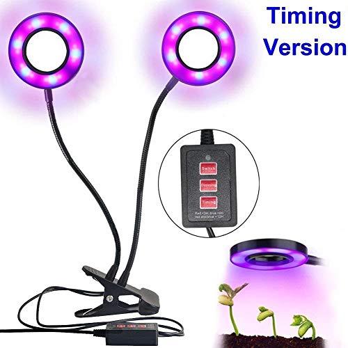 STWIE LED Plant Wachsen Licht mit Dual Head Timing Einstellungsmodus (3/6 / 12H) Anzug für Innen