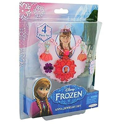 Disney- Frozen El Reino del Hielo Joyas Niña Princesas Pendientes Anna Elsa Anillo Plastico Accesorios Disfraces Niñas por Jakks