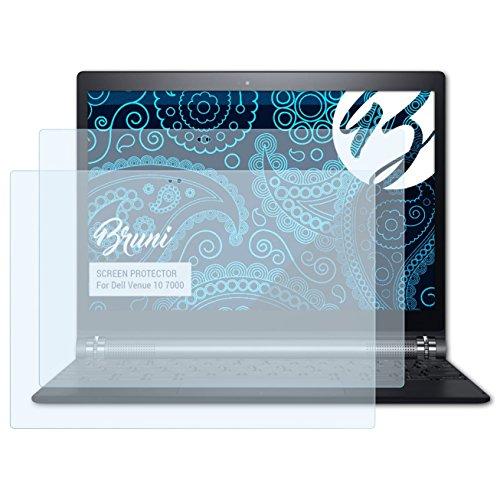 Bruni Schutzfolie für Dell Venue 10 7000 Folie, glasklare Displayschutzfolie (2X)