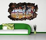 3D Wandtattoo Volleyball Spiel Frauen Turnier selbstklebend Wandbild Tattoo Wohnzimmer Wand Aufkleber 11L2212, Wandbild Größe F:ca. 162cmx97cm