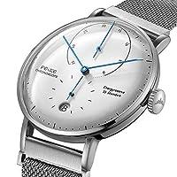 FEICE Automatico Reloj con Espejo Arqueado Bauhaus Reloj Mecánicos Movimiento Multifunciones Reloj de Pulsera para Hombre - FM202