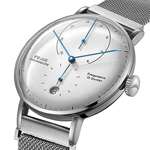 FEICE Automatico Reloj con Espejo Arqueado Bauhaus Reloj Mecánico Mecánicos Movimiento Multifunciones Reloj de Pulsera para Hombre - FM202