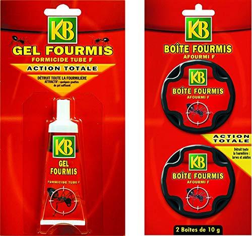 KB Pack de Lutte Contre Les Fourmis Deux BOITES et Un Tube de Gel