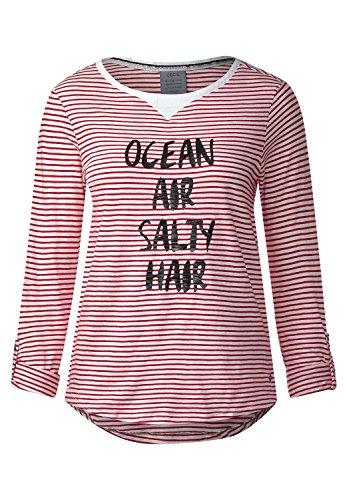 CECIL Damen Streifenshirt im Marinelook just red (rot)