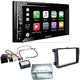 Pioneer AVH-Z2000BT Bluetooth CarPlay USB DVD Moniceiver Touchscreen Einbauset für Tiguan Amarok Caddy Jetta