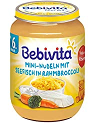 Bebivita Mini-Nudeln mit Seefisch in Rahmbroccoli, 1er Pack (1 x 190 g)