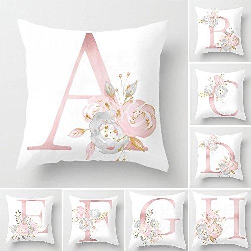 Copricuscino in lino con stampa alla moda per divano casa e ufficio 1# letto Pu Ran