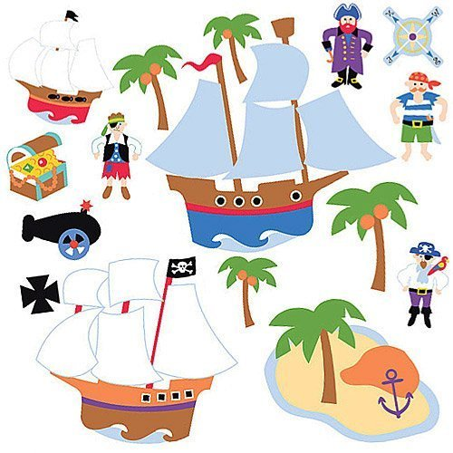 Wallies 15228 Olive Kids Pirates Wallpaper Mural, 2-Sheet by Wallies -