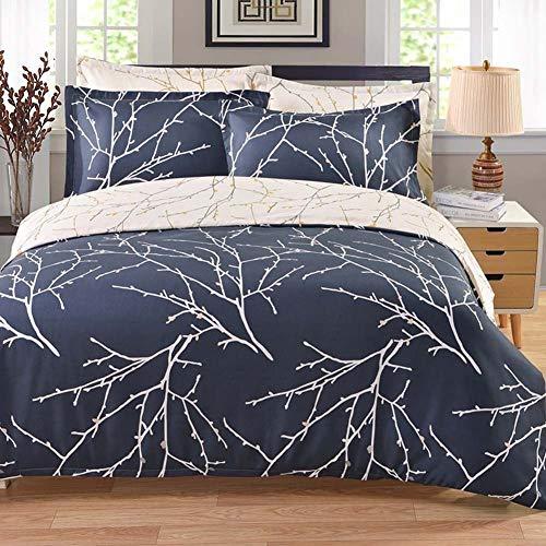 JWANS Bettwäsche-Set Luxus gemütliche Bettbezug Kissenbezug Bettlaken Pflanzenmuster Bettwäsche Twin Queen King Size (Bettwäsche Für Twin Mädchen Tween)
