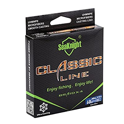 SeaKnight Upgrade Braided Line More Duarble 300M/327Yds 6-80Lbs Superbraid Line Thinner,Stronger and Smoother Fishing Line from SeaKnight
