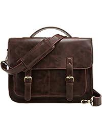 ECOSUSI Aktentasche Herren Umhängetasche 14 Zoll Laptoptasche Messenger Bag