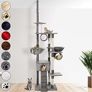 Leopet Katzen Kratzbaum deckenhoch höhenverstellbar von 2,30m bis 2,50m verschiedene Farben