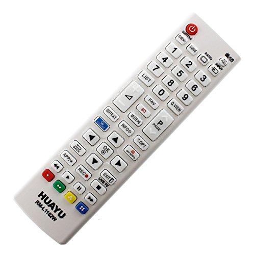 Ersatz Fernbedienung passend für LG 32LH604V 40UH630V TV Weiß mit One-to-One PreProgrammed Connection - Easy Start Funktion ohne lästige Installation