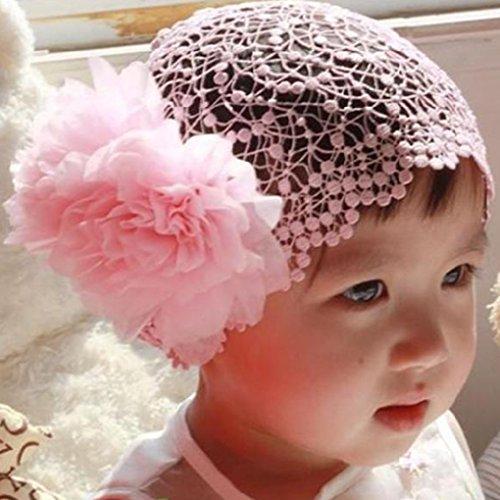 """QHGstore """"Big Blumen-Haar-Band-Stirnband Nettes Baby Kind-Kleinkind-Haar-Band"""" Rosa"""