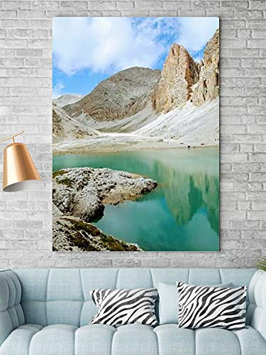 Tipolitografie Ghisleri Keilrahmen Senza-cornice-70x100-canvas-pxbay-dolomiti-lago-Spiegel