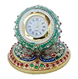 #9: Handcrafted Meenakari Work Decorative Office Table Marble Ball Shape Watch by Ansuya Enterprises