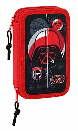 Safta Estuche Star Wars 'Galactic Mission' Oficial Escolar Incluye 28 Útiles 125x40x195mm