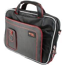 DURAGADGET Maletín Con Diseño Ergonómico Para Wacom Intuos Pen & Touch Tamaño S CTH-480S-S | Pro CTL671 Graphic Tablet - Alta Calidad - En Color Negro Y Rojo