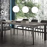 NOUVOMEUBLE Table Extensible 10 Personnes en céramique anthacite EVA