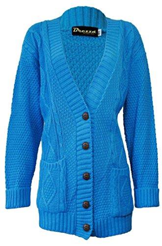 Fashion 4 Less - Gilet - Femme Turquoise - Turquoise