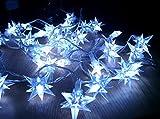 LED Sternen Lichterkette 40 LED - blau - Deko Sternenkette für Innen und Außen