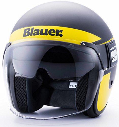 Blauer HT CASCO POD STRIPES BLACK-YELLOW-WHITE MATT S