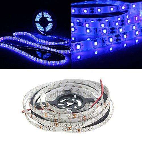 MASUNN 0.5/1/2/3/4/5 M 3528 UV Ultravioleta Púrpura Impermeable Lámpara De Tira De Luz Negro 12V-4 M