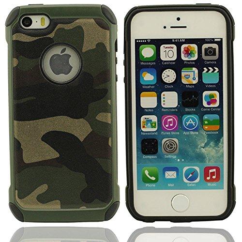 Effacer conception à la mode Divers Mignon Couleurs Camouflage silicone souple Housse Coque de protection case pour Apple iPhone 5 5S 5G vert