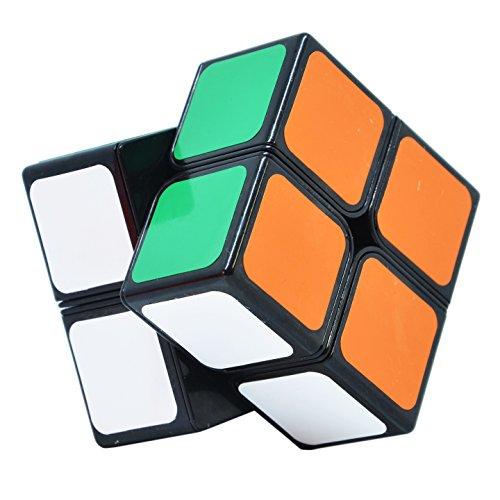 Maomaoyu Speed Cube Original 2x2 2x2x2 Magic Puzzle Cube de Vitesse Magique Cadeau de Vacances pour Enfants Adultes (Noir)