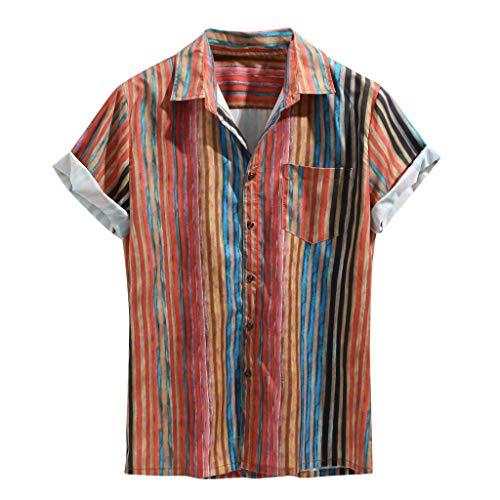 , Kurzärmliges Herrenhemd mit Blumendruck, Bluse, Pullover, T-Shirt im Hawaii-Stil, Strandhemd, Jersey-Sweatshirts ()