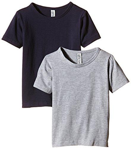 Magic Kids Jungen T-Shirt, 2er Pack, Gr. 128, Mehrfarbig (DarkNavy 778)