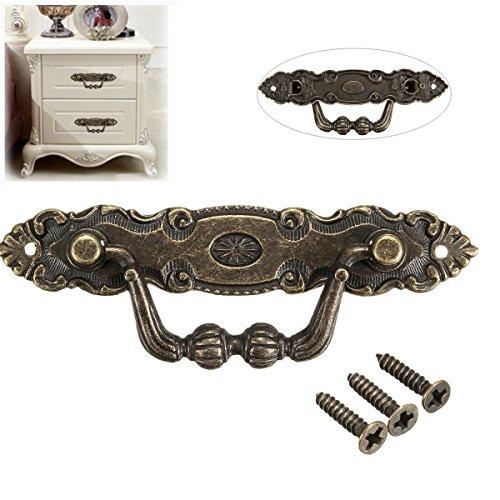 Mieoson Griff Pull Knob, Vintage Retro Antik Bronze für Kommode Schublade Cabinetm Bronze by