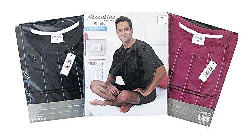 Moonline bequemes und modernes Herren Baumwoll-Shorty, verschiedene Modelle / mehrere Farben / Streifen / Motiv Beere